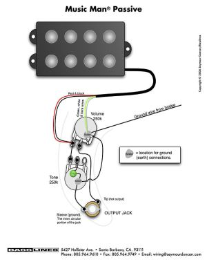 bass wiring diagram musicman | Bass Guitars | Pinterest