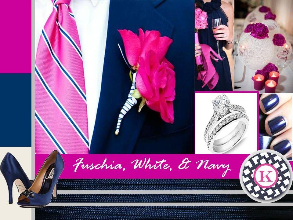 Fuschia Navy and White  My wedding  Pinterest  Navy
