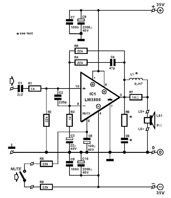 300w lm3886 power amp