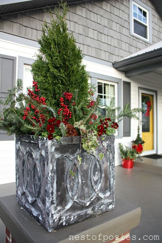 Christmas Porch Pots Filed Under Christmas My Crafty Whims
