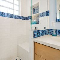White subway tile and blue accent | Home Style | Pinterest ...