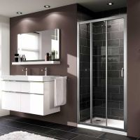Bathroom Pinspiration. #Modern Huppe X1 3 Panel Sliding