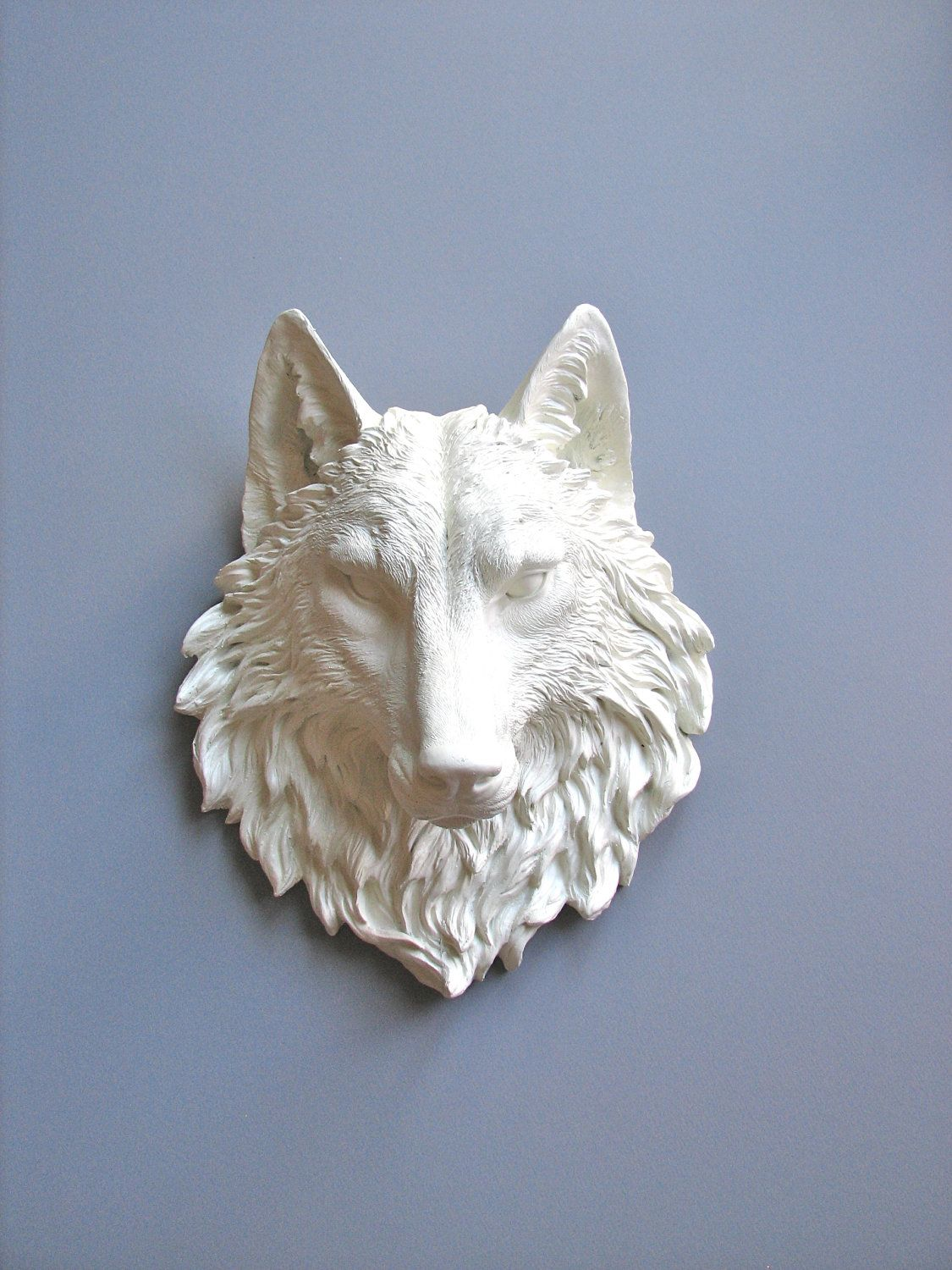 Faux Taxidermy Large Wolf Head Wall Decor Wall Hanging