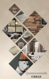 Interior Design Portrait layout presentation board ...