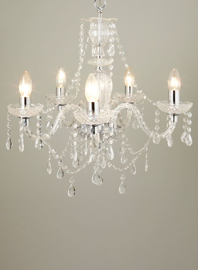 Bryony 5 Light Chandelier Chandeliers Ceiling Lights Home Lighting Bhs