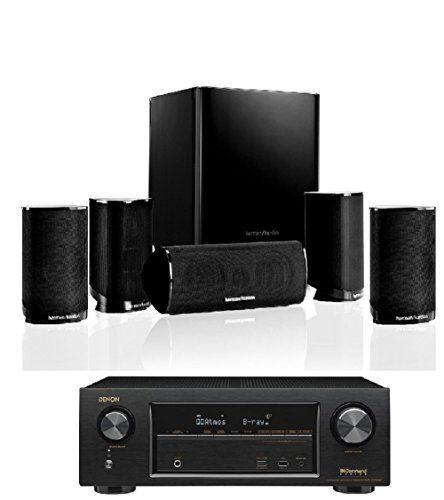 Harman kardon hkts bq channel home theatre speaker system with denon avr also rh pinterest