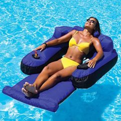 Inflatable Chair With Cup Holder Office Star Products Adult Swimming Pool Float Raft Lounge Floating Tube Tanning Bed | Floats ...