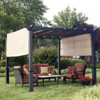 Shop Garden Treasures Matte Black Steel Freestanding ...