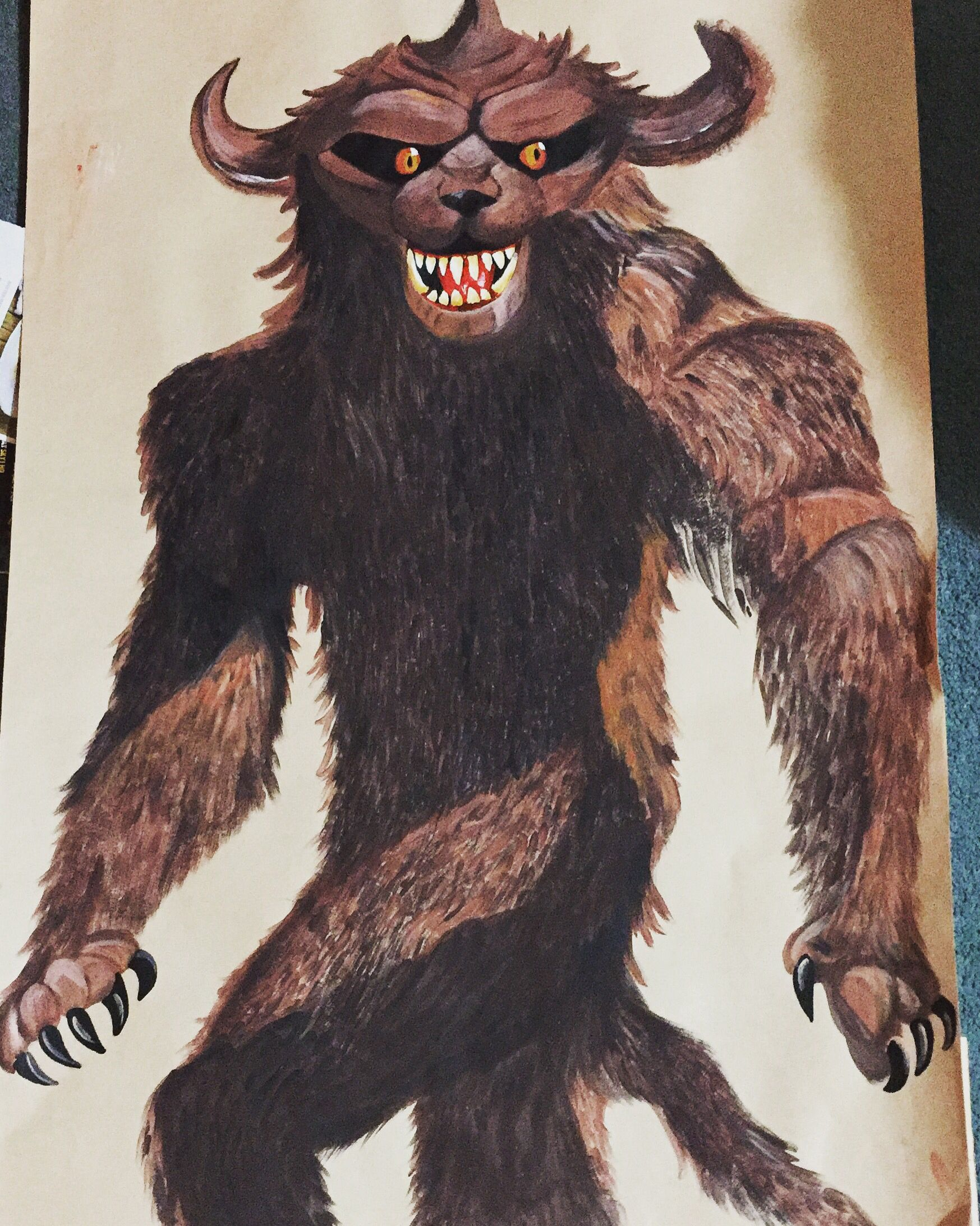 Grendel From Beowulf For Beowulf Primary School Display