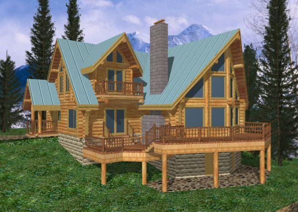 Loog Home Design 3300 Sq.ft. Log Cabin