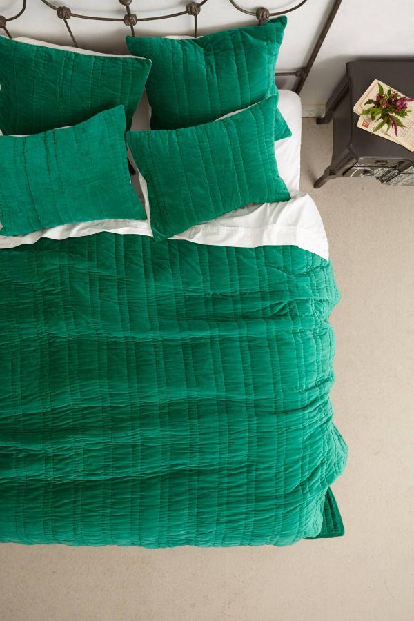 Emerald Green Velvet Bedding