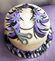 cute hairdresser cake