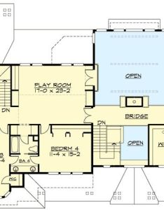 Architectural designs also plan jd bed craftsman with story great room rh za pinterest