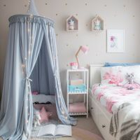 Kid's hanging play canopy tent in light grey! Gorgeous ...