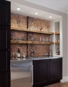 Park slope brownstone traditional home bar new york michael schmitt architect pc perfect wet here  don   mind the open shelves because of also design ideas for basements bonus rooms or theaters rh pinterest