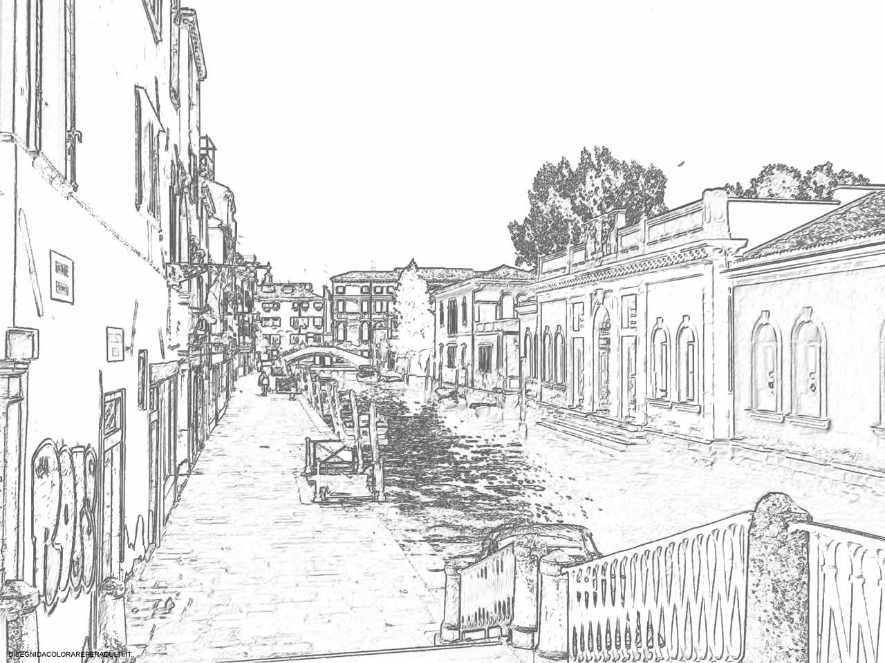 Free Coloring Pages Of Venice Gondola