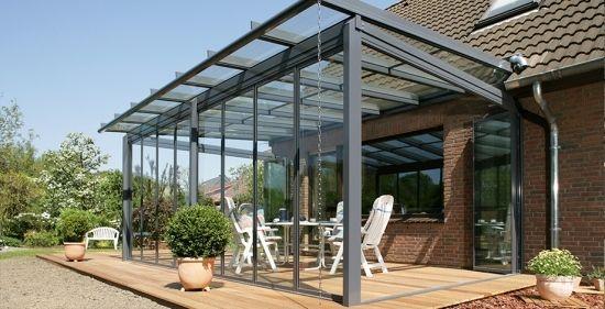 Terrassendach Alu Profil Glasüberdachung Wintergarten