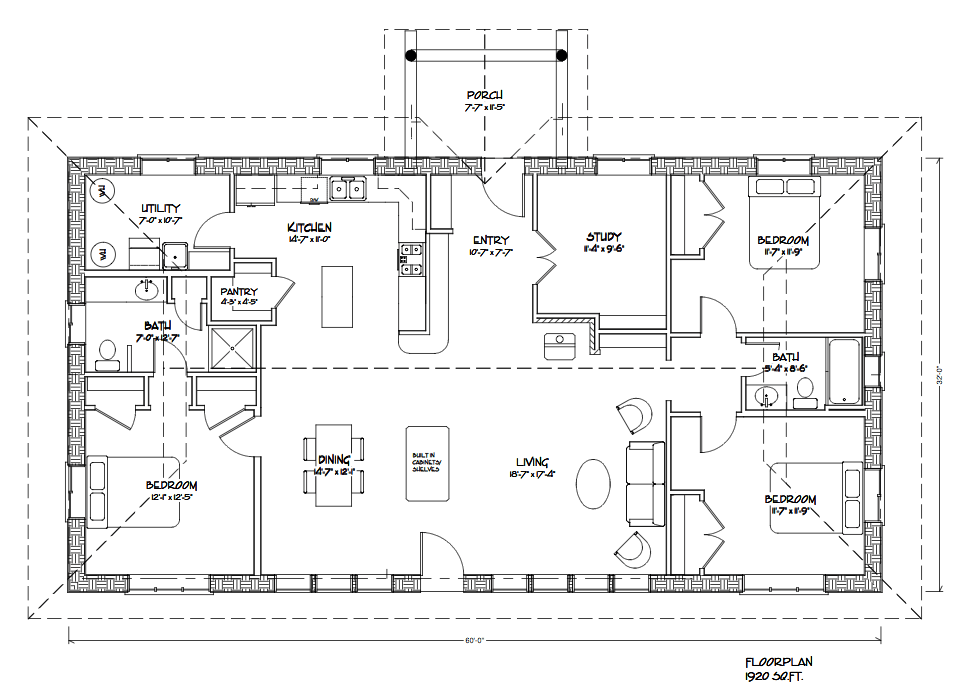 Straw Bale House Floor Plans