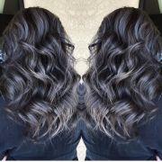 beautiful silver gray hair highlights