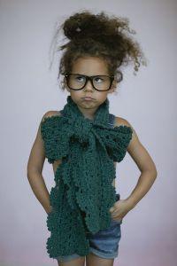 Little Girl's Bow Scarf Toddler CROCHET Boho Scarves Girl ...