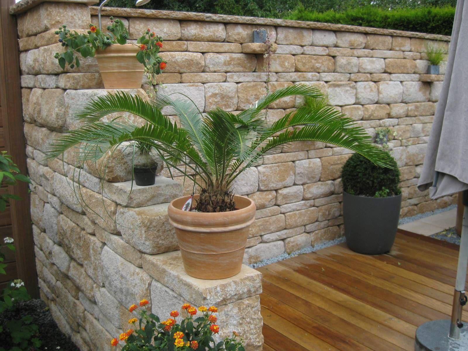 Mediterrane Mauer Bilder Und Fotos Gartenmauer Pinterest Tops
