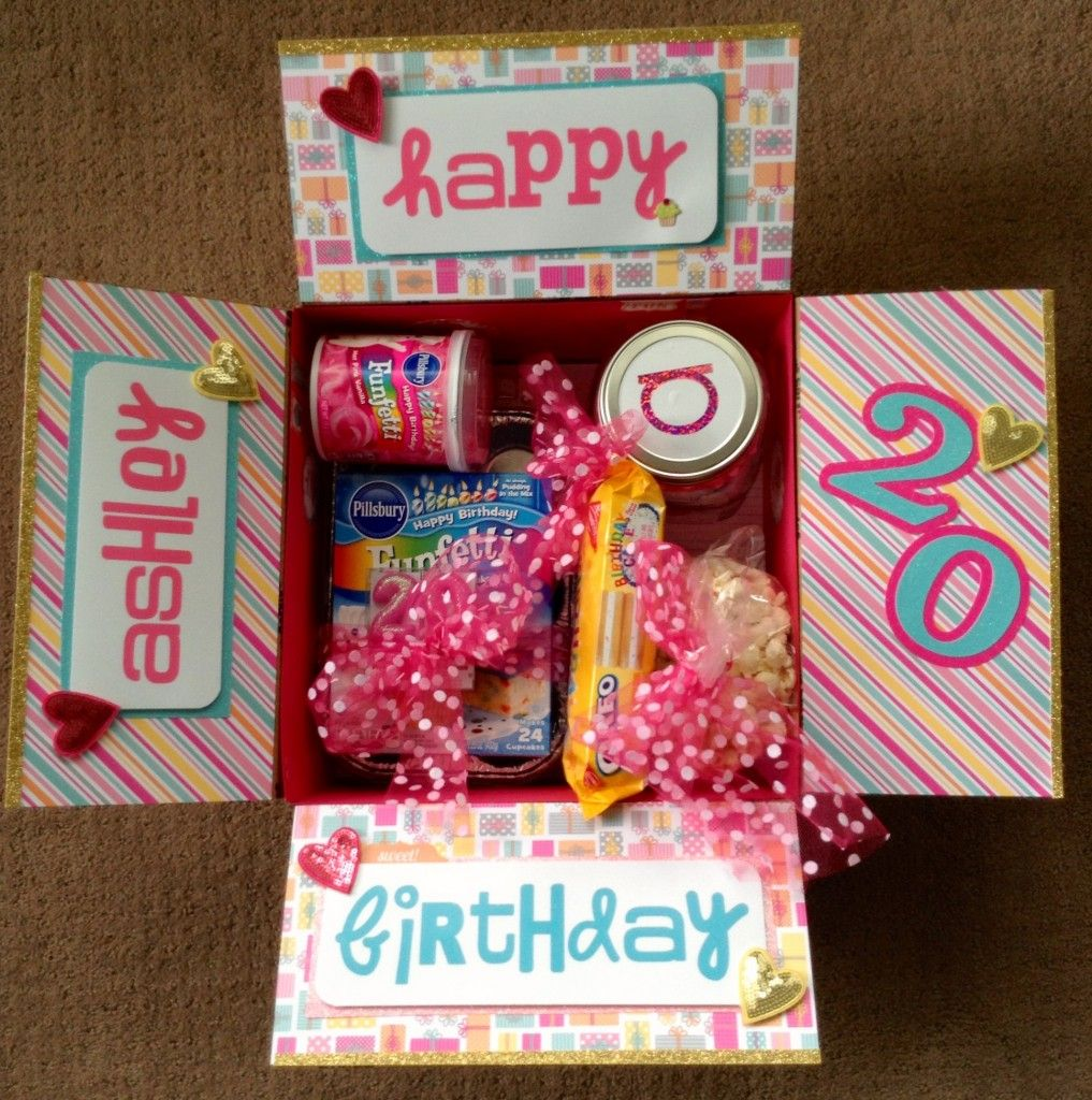 Birthday box college care package ideas pinterest