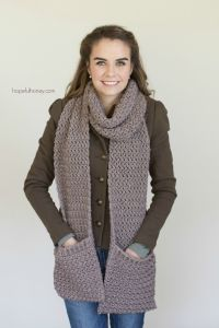 Mulberry Shadow Pocket Scarf - Free Crochet Pattern | Free ...