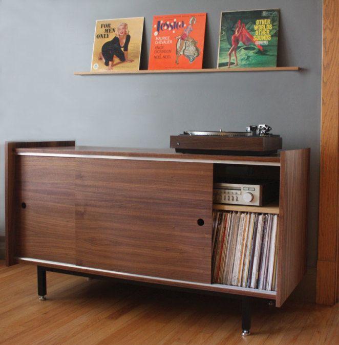 Brokenpress Audio LP Vinyl Record Storage Cabinet  tootie
