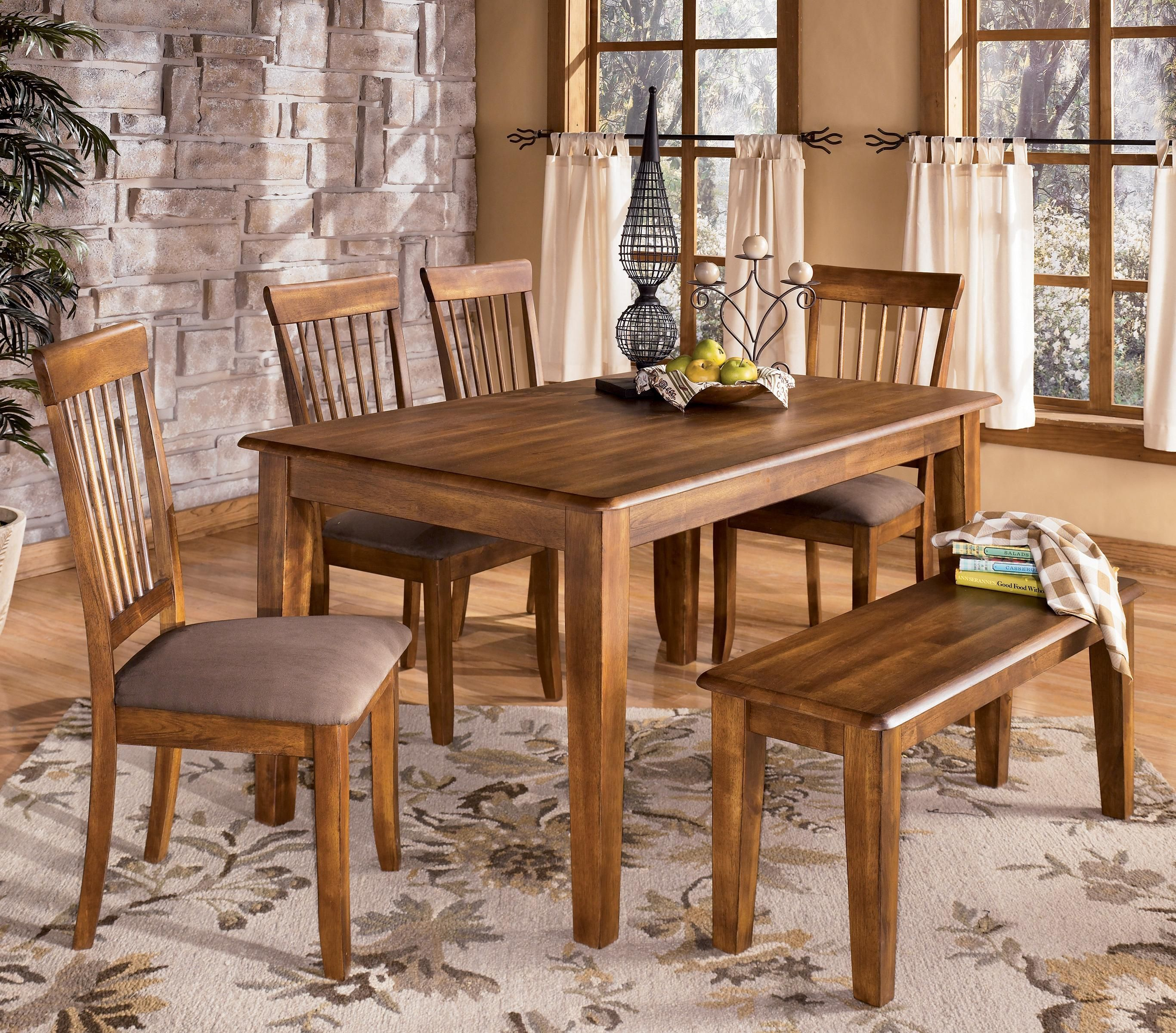 Ashley Dining Room Chairs Berringer 36 X 60 Table With 4 Chairs Home Decor