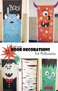 Cool Classroom Door Decorations for Halloween | Classroom ...