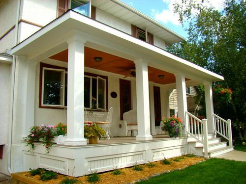 Luxury Front Porch Skirting Small Garden Landscape Home Design