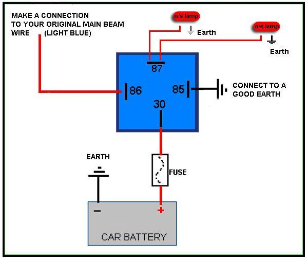4 Pin Relay Wiring Diagram Diagram Pinterest
