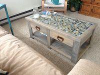 tile coffee table DIY   Living Room Tutorials   Pinterest ...