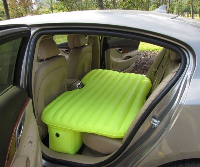 The Backseat Car Bed Is An Inflatable Mattress That You Can Fit Perfectly Into Back