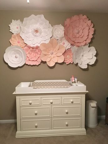 Nice set of large paper flowers up to colours baby nursery also rh za pinterest