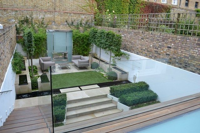 Modern Materials Formal' Garden Ideas And Pool Fence