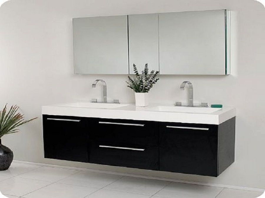 Enjoy with Exclusive Bathroom Sink Cabinets: Black Modern