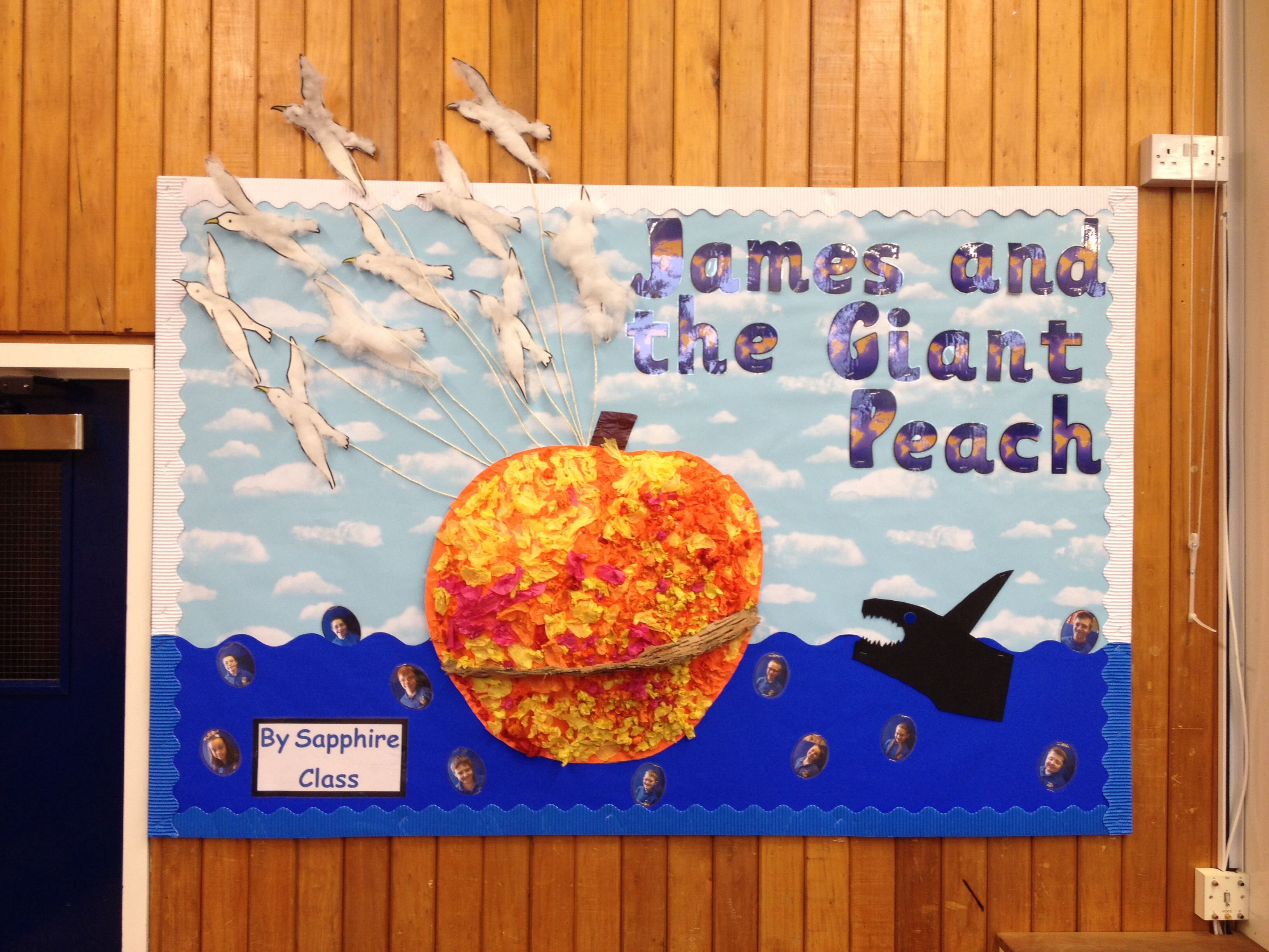 James And The Giant Peach Display Board