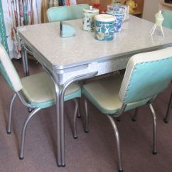 Retro Kitchen Table And Chairs Set Salvaged Cabinets Cracked Ice Vintage Pinterest