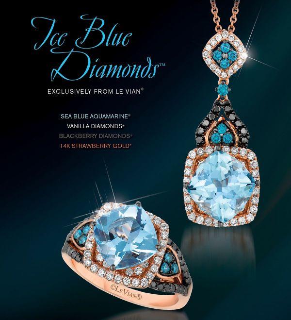 Ring Aquamarine Strawberry Gold and Blue Sea