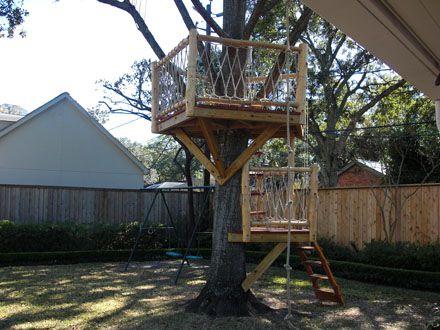 Custom Redwood And Cedar Tree House Like This Platform For