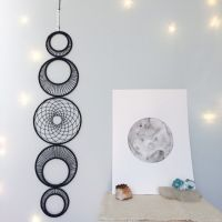 Large Moon Phase Wall Hanging, MoonPhase Wall Art, Moon ...