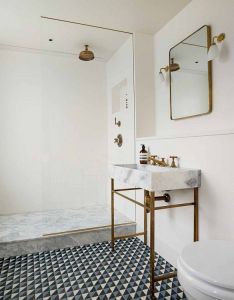 The pinterest home think outside box with geometric patterned tiles for also this stunning london is epitome of chic sinks marbles rh uk
