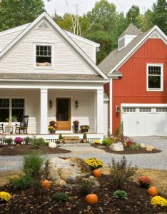 Exterior farmhouse red design pictures remodel decor and ideas also rh pinterest