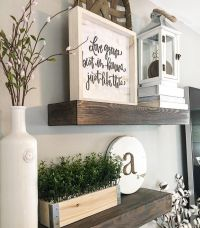 Floating shelves, wood shelves, farmhouse decor, farmhouse ...