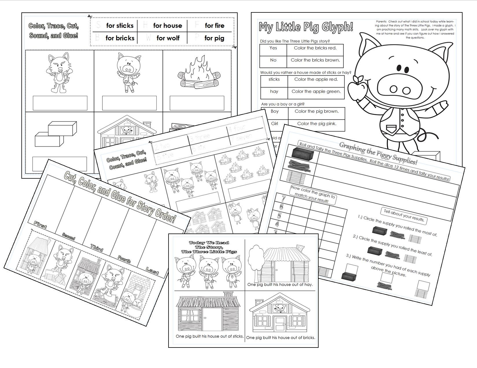 The Three Little Pigs Printables