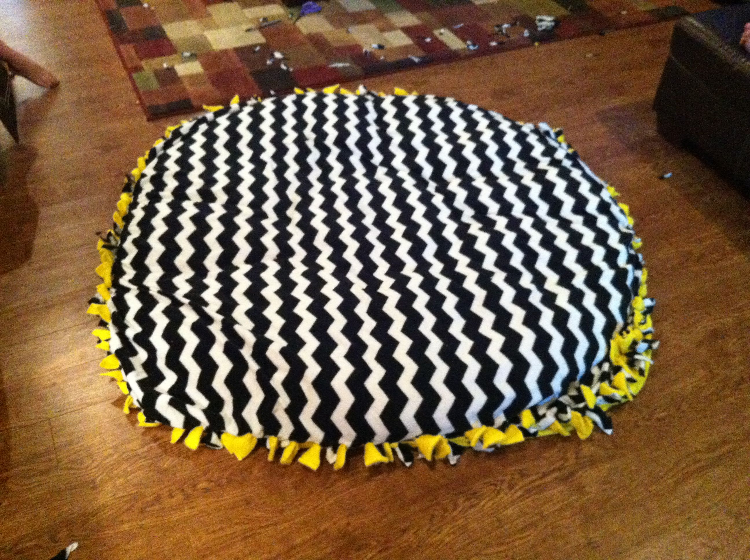 diy chair cushion no sew folding meaning papasan quotno quot fleece cover room 407