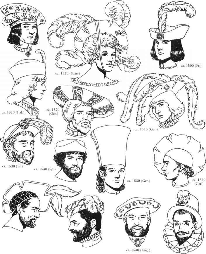 Men's renaissance headwear 8691_13_17-renaissance-clothing