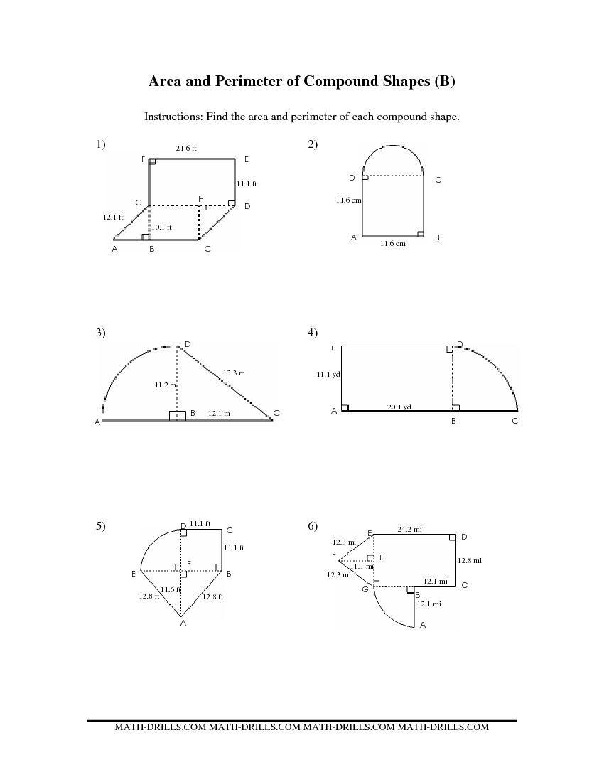 Area Of Composite Shapes Worksheet. Worksheets. Ratchasima