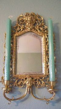 Antique Victorian French Chinoiserie Brass Wall Sconce ...